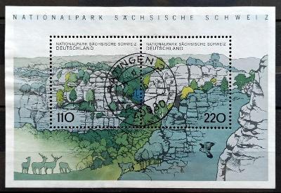 DEUTSCHLAND: MiNr.B44 Saxon Switzerland 110pf+220pf Sheet of 2pcs 1998