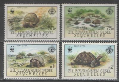 ** 054a VNĚJŠÍ SEYCHELY série WWF želva obrovská II.vydání 1987 - 50€
