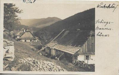 Winkelsdorf - Kouty nad Desnou , fotopohlednice , okr. Šumperk