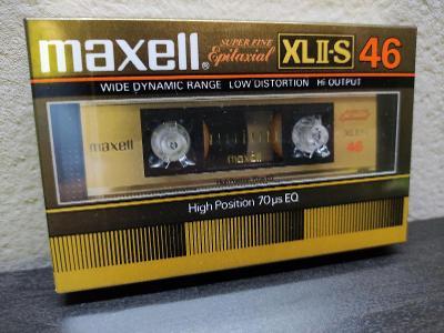 Maxell XLII-S 46 ,sbírková audiokazeta rok 1982 pro jap.trh