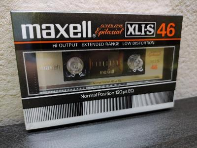 Maxell XLI-S 46,sbírková audiokazeta rok 1982 pro jap.trh
