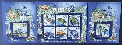 Sierra Leone 2015 Mi.5962-7+Bl.720-1 22€ Fauna Západní Afriky, želvy