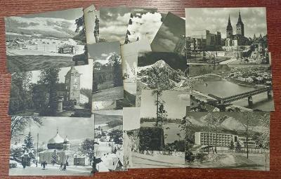 Sada 24 kusů pohlednic místopis turistická místa Československo