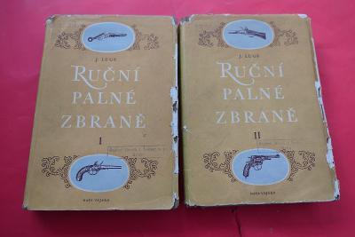 Legendární 2 knihy - Ruční palné zbraně / Jaroslav Lugs I.+II. (1956)