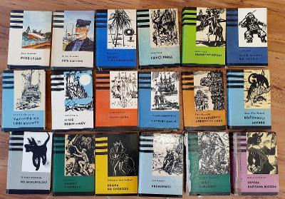 Knihy odvahy a dobrodružství - 18 svazků včetně Pouští a pralesem