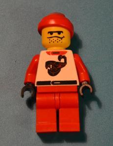 LEGO figurka Vintage Scorpion Racer Red Bandana Town Buggy Race