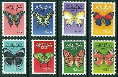 Aruba 2016 Známky Mi 927-934 ** Motýli