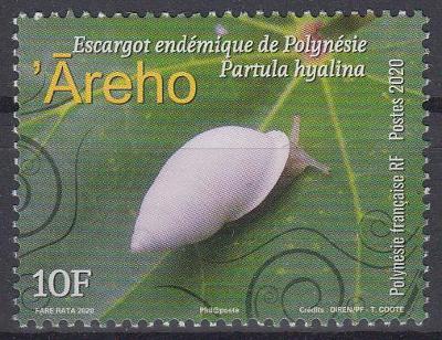 ** Francouzská Polynésie Mi.1430 Suchozemští šneci (Partula hyalina)