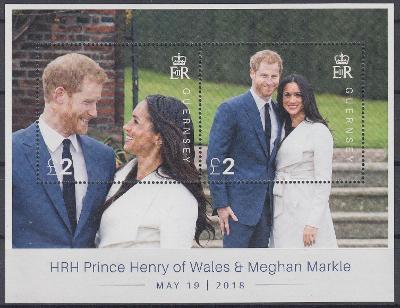 ** Guernsey Mi.Bl.90 Svatba prince Harryho a Meghan Markle