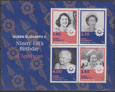 ** Nový Zéland - Narozeniny Královny Alžběty II. (aršík)