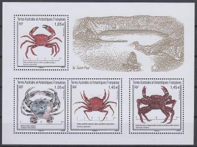 ** TAAF Mi.Bl.86 Krabi z ostrova Saint-Paul
