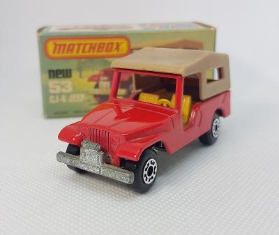 Matchbox No. 53 - Jeep CJ 6 - 1977