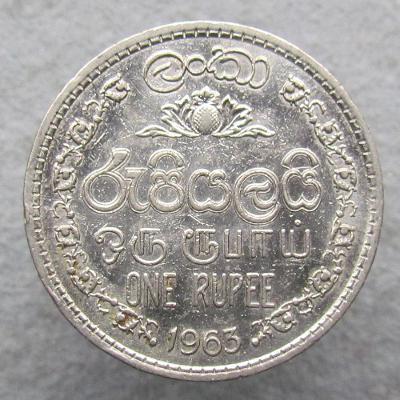 Cejlon 1 rupie 1963