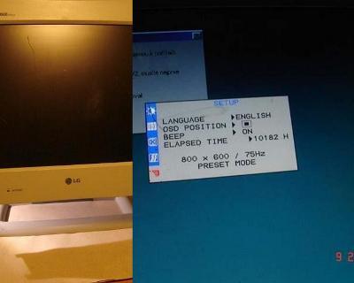 """15"""" LCD světlý monitor LG FLATRON 575LE funkční sleva na poškrábání !!"""