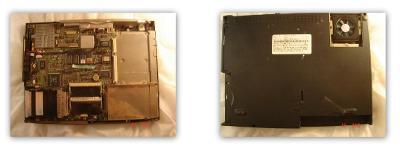 Dolní šasi TOSHIBA 573CD se základní deskou netestovanou pro sběratele