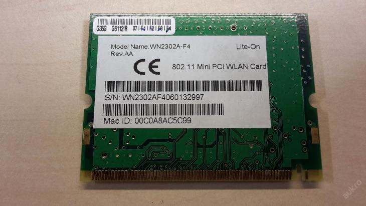 Wifi WN2302A-F4  z FSC Amilo L1310G - Notebooky, příslušenství
