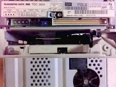 Vzácná bílá SCSI pásková mechanika Tandberg TDC 3820