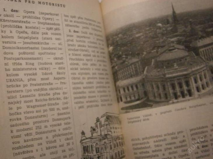 Rakousko - retro průvodce r.1968 Večeřa - Mapy a průvodce
