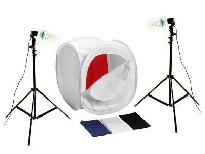 Studio sada pro bezstínovou fotografií 1200W 120cm