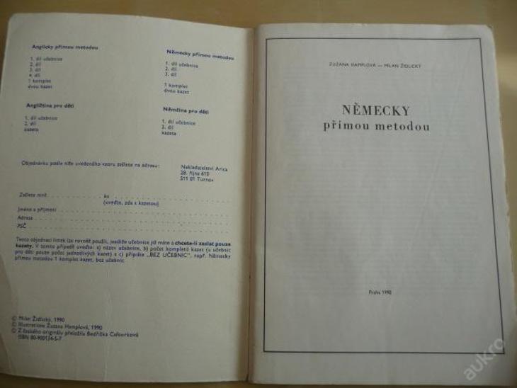 NĚMECKY přímou metodou 1. - 1990 - Učebnice