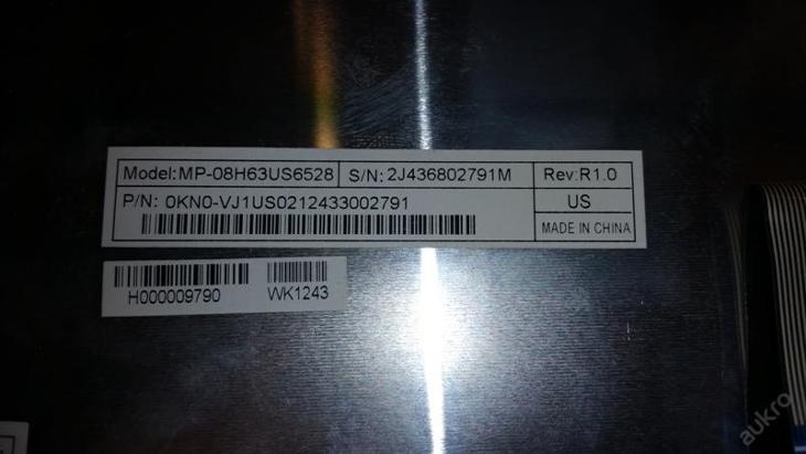 Klávesnice MP-08H63US6528 z Toshiba L300 - Notebooky, příslušenství