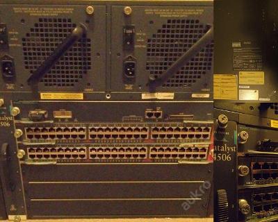 Switch CISCO Catalyst 4506 2x zdroj managment 2x48p na ND,opravu