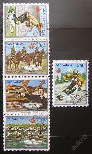 Paraguay 1989 Olymp. medajlisti SC# 2262-63 0399