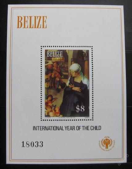 Belize 1980 Mez.rok dětí Mi# Block 24 0111 - Filatelie