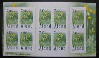 Alandy 1999 Primula Veris blok Mi# 156 12€ 0381