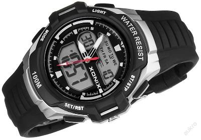 Módní hodinky XONIX pro mládež, LCD+ANALOG, podsvícení, WR100M