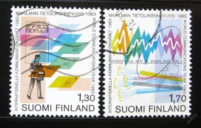 Finsko 1983 Světový rok komunikace Mi# 924-25 0457