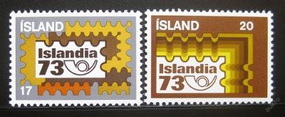 Island 1973 Islandia výstava Mi# 482-83 0781