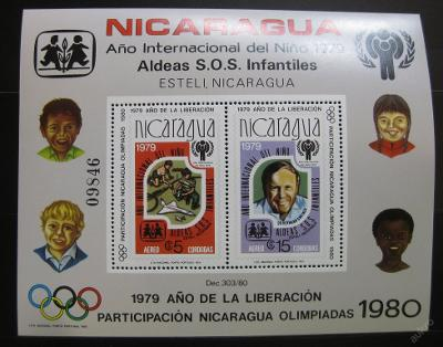 Nikaragua 1980 Mez.rok dětí Mi# Block 110 45€ 0134
