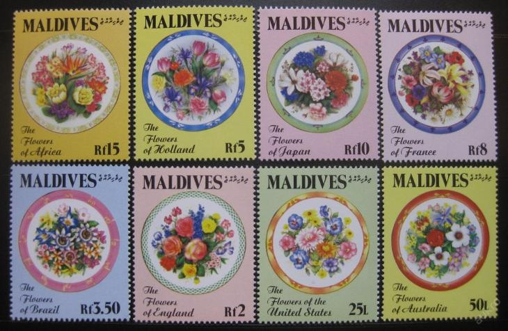 Maledivy 1992 Květiny Mi# 1718-25 15€ 0650 - Filatelie