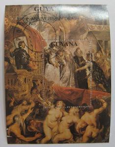 Guyana 1990 Umění, Rubens Mi# Block 95 15€ 0177