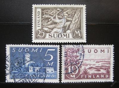 Finsko 1930 Různé motivy Mi# 155-57 4.30€ 0937