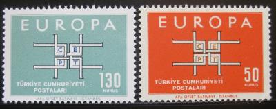 Turecko 1963 Evropa CEPT Mi# 1888-89 0772