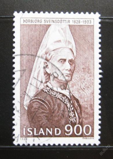 Island 1982 Borbjorg Sveinsdottir Mi# 587 0057 - Filatelie
