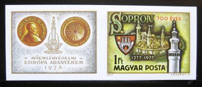 Maďarsko 1977 Sopron neperf. Mi# 3206B 30€ 0495
