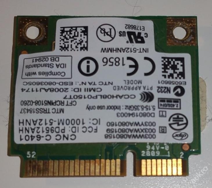 Wifi 512ANHMW z MSI 628X MS-1651 - Notebooky, příslušenství