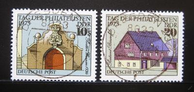 DDR 1975 Den filatelistů Mi# 2094-95 0975