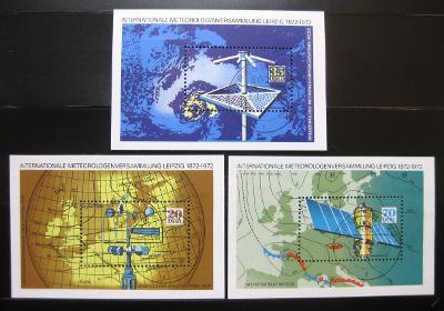 DDR 1972 Setkání meteorologů Mi# Block 34-36 0972