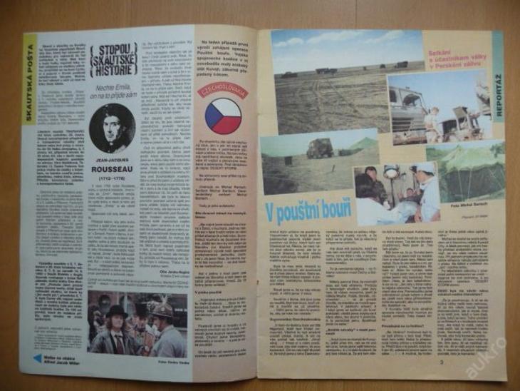 Časopis - JUNÁK - číslo 2 z ledna roku 1992 - Vojenské