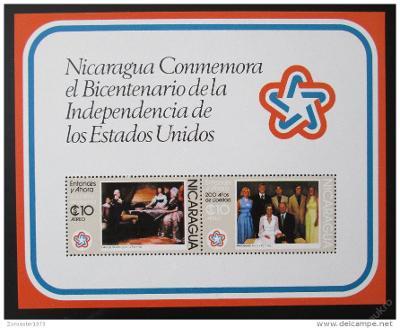 Nikaragua 1976 Amer. revoluce Mi# Block 93 1071