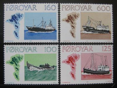 Faerské o. 1977 Rybářské lodě Mi# 24-27 10€ 1115