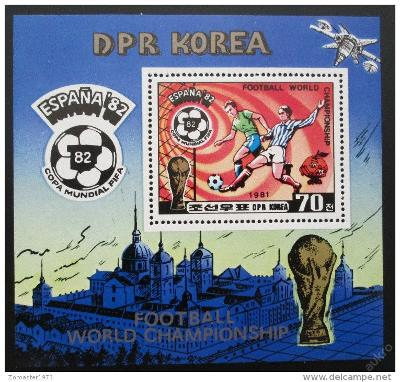 KLDR 1981 MS ve fotbale Mi# Block 94 Kat 10€