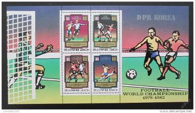 KLDR 1980 MS ve fotbale Mi# Block 78 Kat 20€