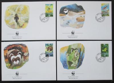 Lichtenštejnsko 1989 Fauna 083 Mi# 967-70 FDC WWF