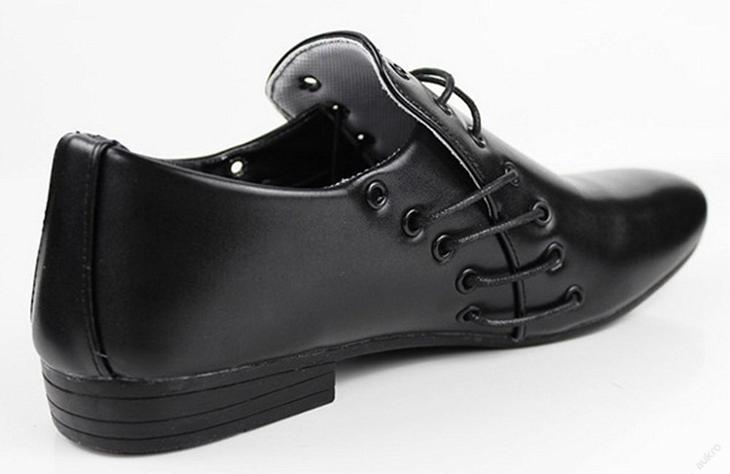 Nádherné pánské slip-on Oxford boty. Černé. - Pánské boty