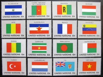 OSN New York 1980 Vlajky Mi# 348-63 1201